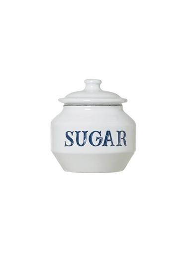 Warm Design Emaye Şekerlik Beyaz